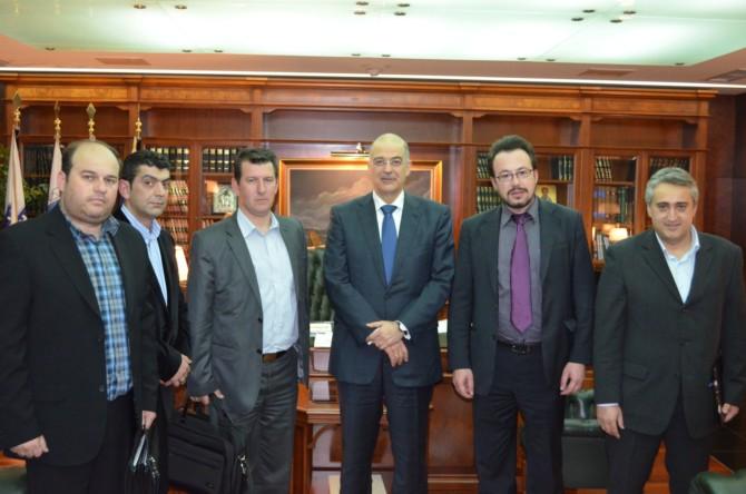 13/03/2013 - Συνάντηση των μελών του Διοικητικού του Συμβουλίου με τον υπουργό Προστασίας του Πολίτη και Δημόσιας Τάξης κ. Ν. Δένδια